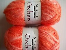 New listing Nob Hill Orchard brushed yarn, Tiger Lily (orange), lot of 2 (114 yds each)