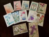 Lot of 12  Vintage ~AIRBRUSHED~Embossed ~Antique~EASTER~Postcards-a-37