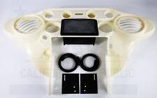 6.5 Speaker Inner Fairing W/ Double Din GPS Stereo Tray Harley HD FLH 1996- 2013