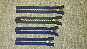 METAL ZIPS BRASS TEETH JEANS & TROUSERS CLOSED ENDED GOOD QUALITY