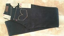Levi's Jeans,Bold Curve ID,Classic Rise,Straight,Navy Blue,W 26 L 34,Women's