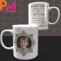HRH Prince GEORGE OF CAMBRIDGE 5th Birthday Commemorative 11oz Ceramic Mug