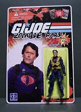 """Custom GI Joe figure and package of """"Zombie Wars"""" BAD ASH from army of darkness"""