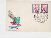 Poland 1960 Polish Folk Costumes +  Slogan Cancel FDC Stamps Cover ref 22971
