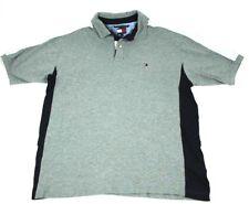 Vintage Tommy Hilfiger Polo Shirt Spellout & Flag Logo Men's XL - Gray