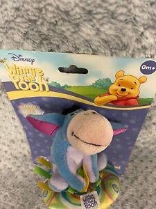 "Disney Baby Winnie the Pooh Eeyore Plush 4"" rattle"