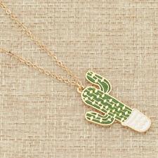 Cactus Pendant Necklace Cartoon Potted Mini Plant Pendant Necklace for Women