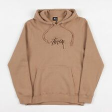 Stussy New Stock Applique Hooded Sweatshirt - Light Brown - Size Large
