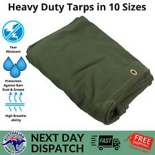 Heavy Duty Canvas Tarp Waterproof Outdoor Shelter Camping Tarpaulin UV Resistant