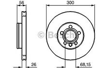 BOSCH Disco de freno (x2) Antes 300mm ventilado SEAT ALHAMBRA 0 986 479 037