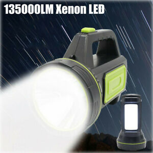 135000LM  LED Searchlight Spotlight Rechargeable Hand Torch Work Light Lamp 2020