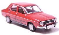 H0 BREKINA Personenkraftwagen Dacia 1300 burgunderrot Lizenz Renault DDR # 14516
