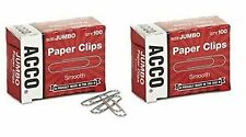 Acco Paper Clips Economy Smooth Jumbo 200 Paper Clips 72580