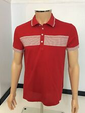 Hugo Boss Men's Polo T Shirt, Medium, M, Red, White, Vgc