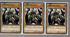 Yugioh Cards - Playset Of 3x Summoned Skull MIL1-EN028 1st Edition