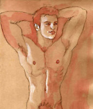 ORIGINAL MALE NUDE solluble sanguine - KARL - by GERMANIA