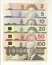 BIRDS OF CANADA ISSUES OF 1986-1991 $2, $5, $10, $20, $50, $100. 6 NOTES #1850