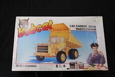 YO047 HELLER 1/43 Bobcat maquette 3504 camion benne wabco dumper carriere TP