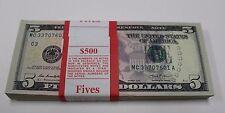2013 New Uncirculated Five 5  Dollar Bills Pack Philadelphia C 3 Pack Strap MC-A