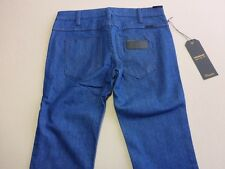 096 MENS NWT WRANGLER STRANGLERS SUPER SLIM RICH BLUE STRETCH JEANS 28 $150 RRP