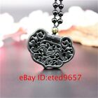Pendant Natural Necklace Bat Obsidian Amulet Jewelry Black Jade Gifts Charm