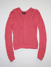 Topshop Nordstrom Women's Cable Knit Sweater Size US 2 (XS), EUR 34, UK 6