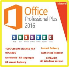 Microsoft Office 2016 Pro ✔️Plus Lifetime License Key🔐 for Windows PC✔️