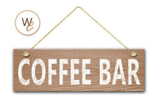 "COFFEE BAR Sign, 5.5"" x 17"" Wood Sign, Rustic Cafe Home Decor, Kitchen Sign"