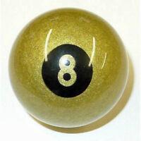 """ARAMITH 2"""" PREMIER GOLDEN 8 BALL POOL BALL"""