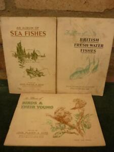 3 Vintage John Player Cigarette cards Full sets of Birds and Fishes