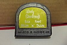 VINTAGE LADY STEELCRAFT SIX FOOT SLIM 'N' TRIM TAPE MEASURE