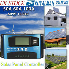 10/20/30/100A LCD MPPT Solar Panel Battery Regulator Charge Controller Dual USB