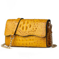 Crocodile Chain Shoulder Bag Women Fashion PU Leather Crossbody Bags Travel Bag
