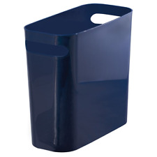 mDesign Slim Plastic Rectangular Small Trash Can Wastebasket, Garbage Container