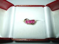 1.13 cttw Genuine Ruby & Diamond Ring 14K yellow gold NWT $1250