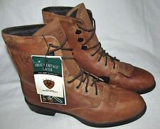 New Ariat Heritage Lacer II John Lyons Roper Cowboy Work Boots Womens Size 11B