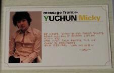 TVXQ DBSK Tohoshinki official Bigeast message card Yoochun Yuchun photocard JYJ