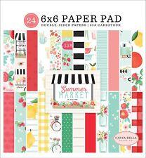 Carta Bella Paper SUMMER MARKET 6x6 Scrapbook Paper Cardstock Pad