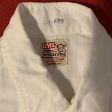 vintage levis short horn shirt 1950s 50s Small