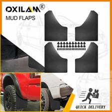 4pcs Universal Mud Flaps For Car Pickup Van Truck Mudguards Splash Guards Black Fits Toyota