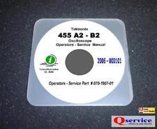 "Tektronix TEK 455 A2 B2 Oscilloscope Service Manual With 17""x11"" Diagrams CD"