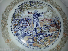 Limoges 1974 Collectible Plate Haute Vienne Fine China Porcelain Lafayette New