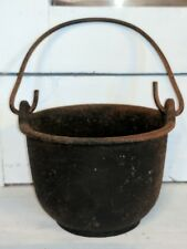 Small Vintage Cast Iron Pot With Handle Marked JUMBO 5
