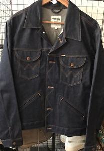 Wrangler Rigid Denim Jacket Size Large Selvedge Bluebell L LVC