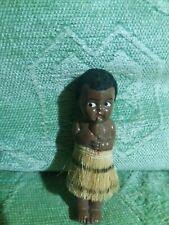 Super Lindo Kewpie Vintage Antiguo Muñeca de Plástico Duro Negro