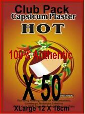 CAPSICUM  HOT PAIN RELEIF PLASTERS   100% CHEMICAL FREE  CLUB PACK  LOT of  50
