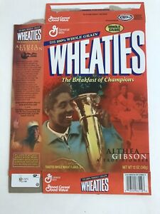 2001 Wheaties Box ALTHEA GIBSON A TRUE PIONEER Black History Month Collectible