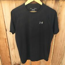 "⚫� Under Armour ""The Tech Tee� Medium Black S/S Gym Workout Running Activewear"