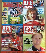 AFL Football Records x9 - 1998 1999 - Carlton Collingwood North Melbourne Etc