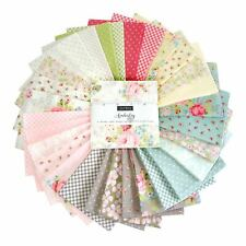 Moda Charm Pack Square Quilt Fabric Amberley vintage shabby-chic floral pastel